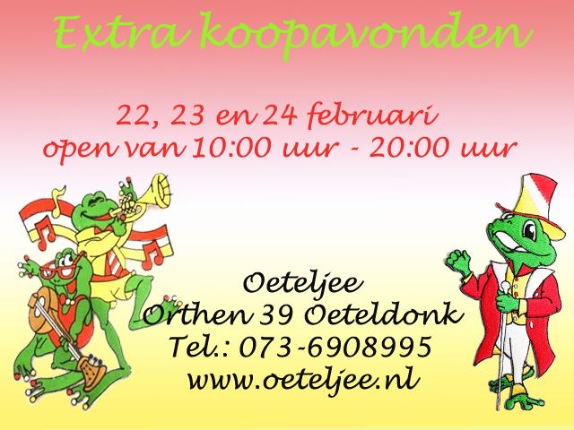 Carnavalswinkel Oeteljee Den Bosch.